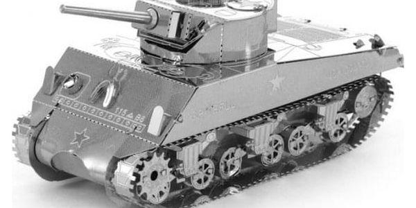 3D kovové puzzle - tank Sherman - dodání do 2 dnů