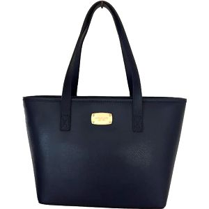 Michael Kors Elegantní kožená business kabelka Jet Set Saffiano Leather Tote Dark Blue