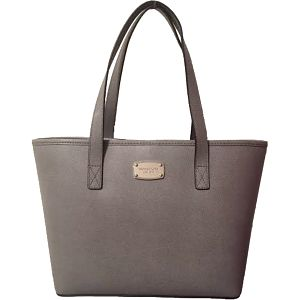 Michael Kors Elegantní kožená business kabelka Jet Set Saffiano Leather Tote Grey