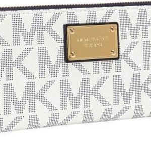 Michael Kors Elegantní peněženka Continental Smartphone Wristlet vanilla