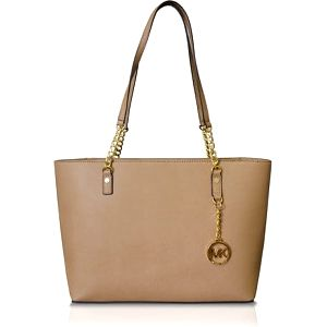 Michael Kors Elegantní kožená business kabelka Jet Set Chain Leather Tote Blush