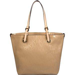 Michael Kors Elegantní kožená business kabelka Grab Bag Leather Tote Light Brown