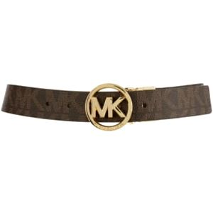 Michael Kors Dámský opasek Logo Buckle Belt Brown S