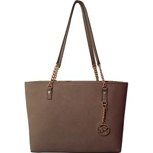 Michael Kors Elegantní kožená business kabelka Jet Set Chain Leather Tote Dune