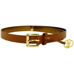 Michael Kors Dámský opasek Logo Charm Belt Light Brown M