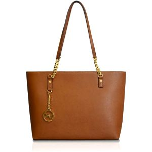 Michael Kors Elegantní kožená business kabelka Jet Set Chain Leather Tote Brown