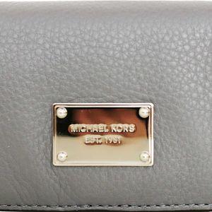 Michael Kors Elegantní kožená peněženka slim Walltet leather - tmavě šedá 38S4XTTE2L-3