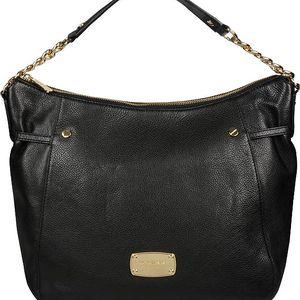 Michael Kors Elegantní kožená business kabelka Megan LG Slouchy TZ Shoulder Black 38h4cegl3l-1