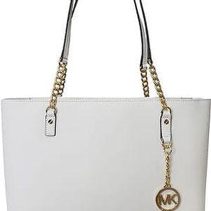Michael Kors Elegantní kožená business kabelka Jet Set Chain Leather Tote White