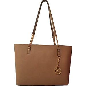 Michael Kors Elegantní kožená business kabelka Jet Set Chain Leather Tote Khaki