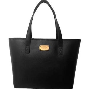 Michael Kors Elegantní kožená business kabelka Jet Set Saffiano Leather Tote Black
