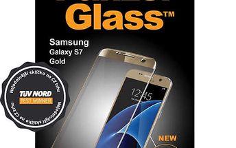 PanzerGlass ochranné sklo na displej pro Samsung S7 Premium, zlatá - 1055