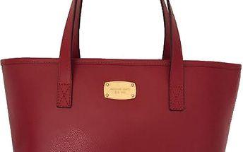 Michael Kors Elegantní kožená business kabelka Jet Set Saffiano Leather Tote Red