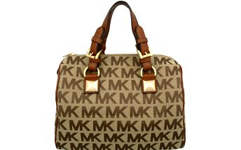 Michael Kors Elegantní kabelka Grayson Light Brown Monogram 38T5YGYS2J