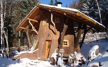 Pohádková vesnička Podlesíčko s bazénem, ubytováním v chaloupce a 2 dětmi do 12 let zdarma
