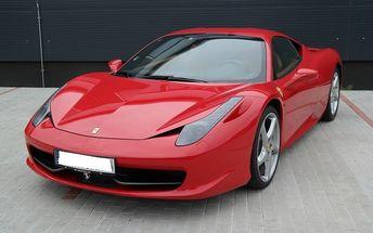 Jízda ve Ferrari 458 ve Zlínském kraji