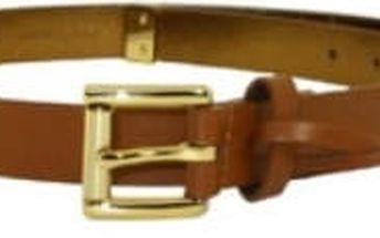 Michael Kors Dámský opasek Logo Charm Belt Light Brown L