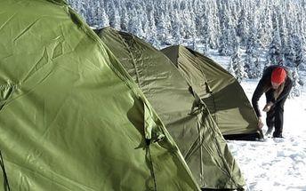 Krkonoše: zážitková noc ve stanu na horské pláni pro dva + snídaně, sauna a čaj do 5/2017