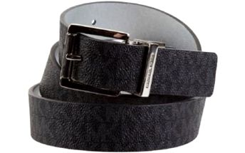 Michael Kors Dámský opasek Women`s MK Monogram Belt Black L
