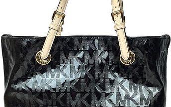 Michael Kors Elegantní kožená business kabelka Grab Bag Leather Tote Black Shine
