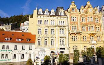 3–6denní pobyt s polopenzí v hotelu Heluan v Karlových Varech pro 2 osoby