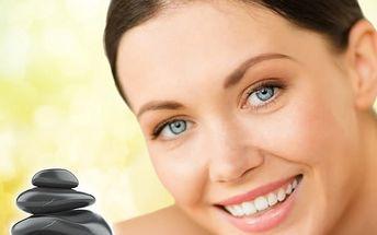 40 min. masáž obličeje, dekoltu a šíje lávovými kameny + 20min. liftingová péče s přírodními výtažky
