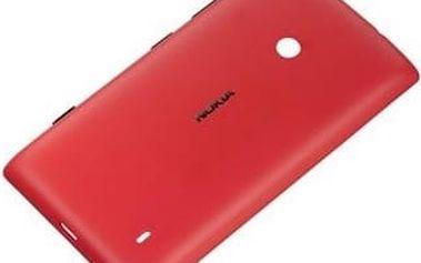 Nokia CC-3068 ochranný kryt pro Lumia 520, červená - 02737L5