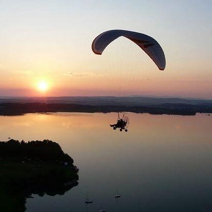Motorový paragliding v Moravskoslezském kraji