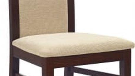 Albert - jídelní židle (torent béžová, ořech tmavý)