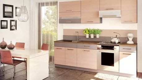 Fresh - Kuchyňský blok 180/240 cm (truffel, bodega světlá)