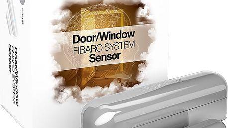 Fibaro Bateriový senzor na okna a dveře, stříbrná - FIB-FGK-102-ZW5