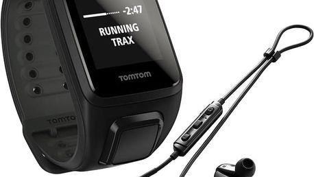 TOMTOM Spark Fitness Cardio + Music (L), černá + bluetooth sluchátka - 1RFM.003.04