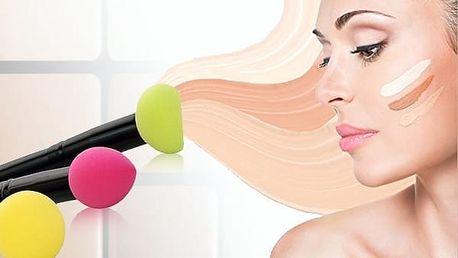 3 dílná sada houbiček na make-up ve štětci