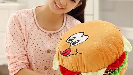 Polštář v podobě hamburgeru