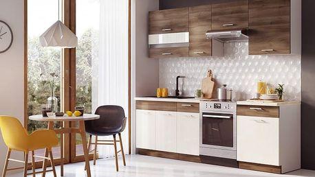 Mia - Kuchyňský blok 180/240 cm (akát,vanilka)