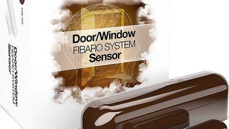 Fibaro Bateriový senzor na okna a dveře, tmavě hnědá - FIB-FGK-107-ZW5
