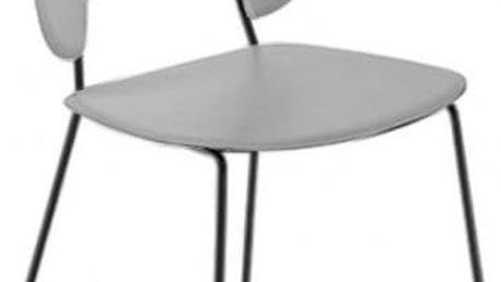 Traffic-t - Jídelní židle (lak černý mat, plast sv. šedá)