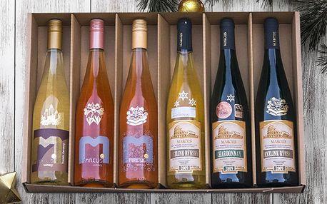 Dárková sada šesti vín z vinařství Marcus