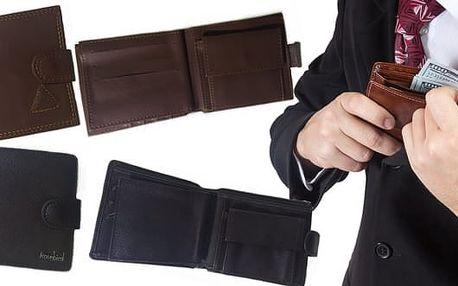 Praktické pánské peněženky v obdélníkovém tvaru, výběr z 5ti druhů, včetně poštovného. Peněženka se skvěle hodí pro každého muže a může být také skvělým dárkem.