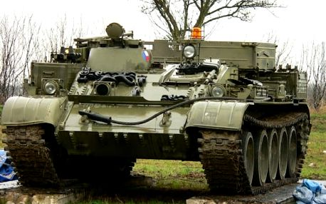 Jízda v tanku VT 55