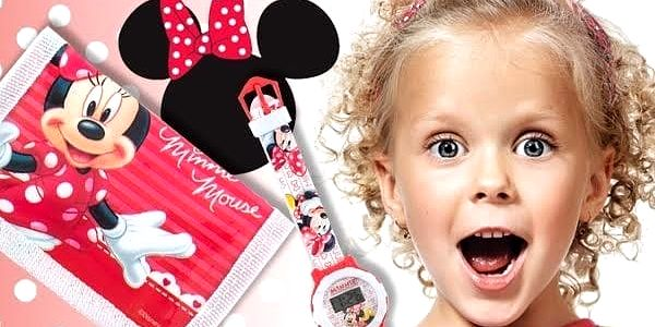 Dárková sada peněženka a hodinky Minnie Mouse