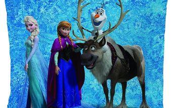 Polštářek Frozen Team (Ledové království) 40x40 cm