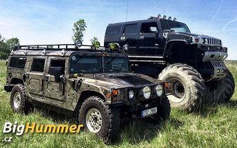 30 minut řízení Hummeru H1 nebo Monster Trucku v Milovicích na off-road dráze