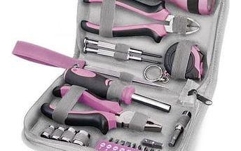 Extol Craft Lady 23 dílů - Růžová sada nářadí pro ženy