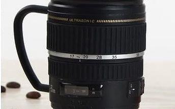 Hrnek pro fotografy - objektiv Lens cup s ouškem