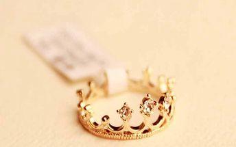 Prsten ve tvaru korunky - 2 barvy