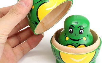 Matrjoška v designu žáby 5 ks