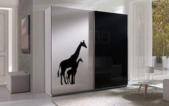 Šatní skříň Tulsa 4 žirafy
