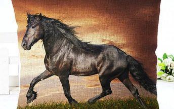 Povlak na polštář s koňskými motivy