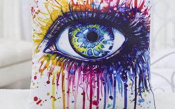 Povlak na polštář - Pestrobarevné oko